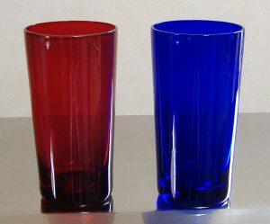 キセグラス15オンス 赤と青