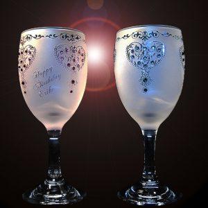 ワイングラス ディスプレー